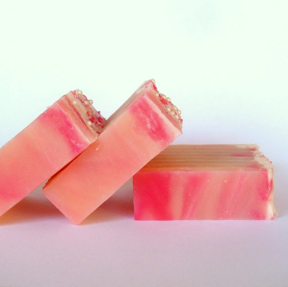 Pretty in Pink Vegan Cold Process Soap - A Lick Me All Over Dupe