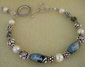 3-bead engraved bead bracelet - RESERVED for MichelleGilmore