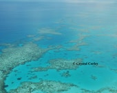 Photo Note Card Looking Down on the Great Barrier Reef, Australia
