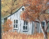 Old House In The Woods , ACEO