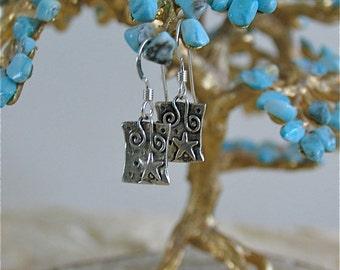 Tiny Treasure Earrings - Rising star message