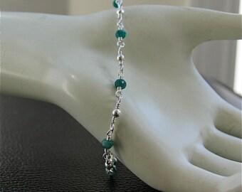 Emerald Bracelet in Sterling silver