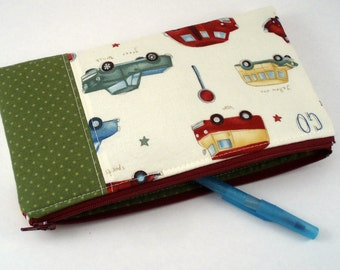 Zipper Pouch - Pencil Pouch - Cars & Trucks