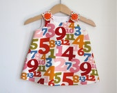 Whats Your Number Newborn Dress