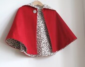 Little Red Riding Hood Infant or Toddler Cape - Sizes Newborn, 3M, 6M, 12M, 18M, 2T, 3T, 4T