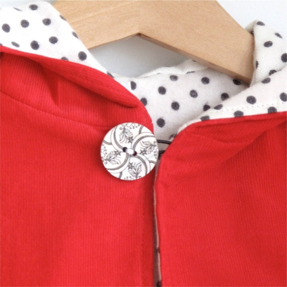 Little Red Riding hood infant or toddler cape - sizes newborn, 3m, 6m, 12m, 18m