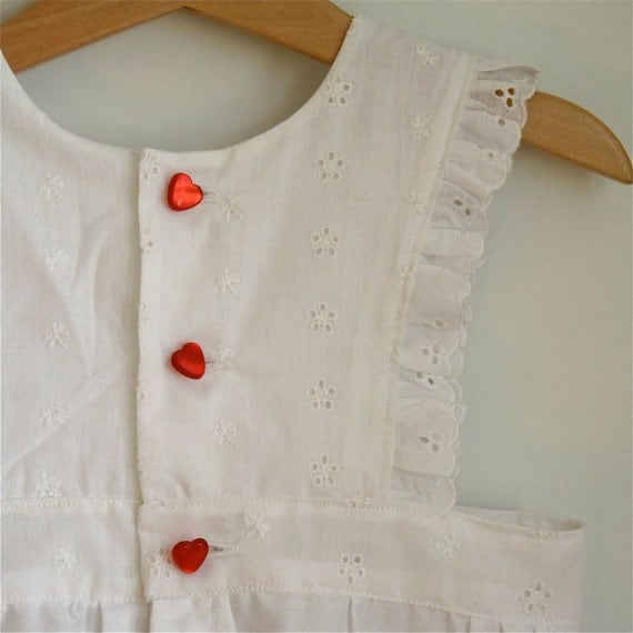 Toddler girls lace ruffled pinafore apron - size 2t/3t - reserved for Shannon
