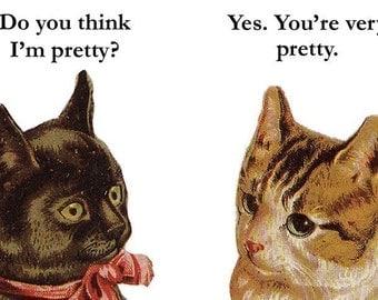 Am I Pretty? - Cat Magnet