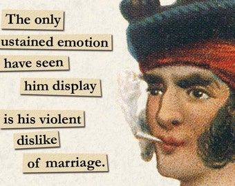 SALE! A Violent Dislike of Marriage - Magnet