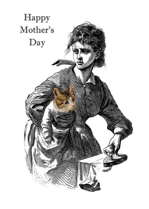 Its a Cat - Mothers Day Card
