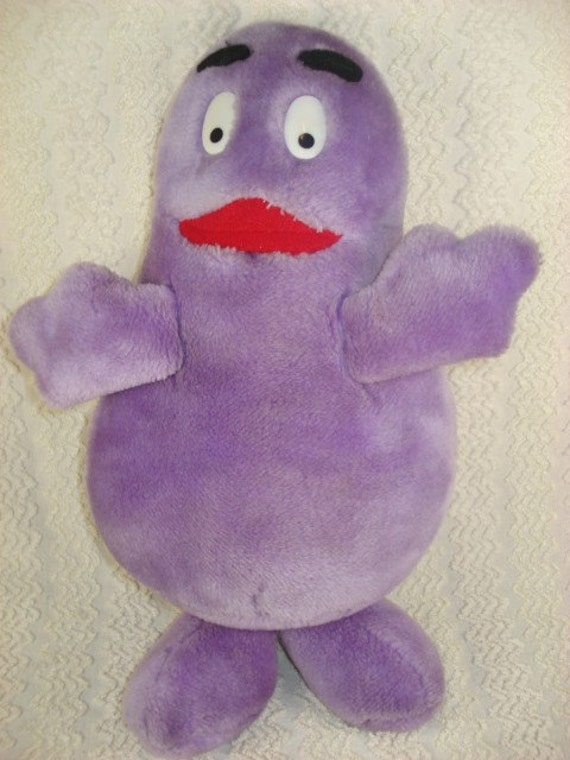 Vintage 1983 Plush Purple Grimace Doll From By Timelesstotes