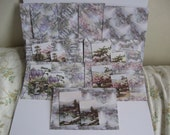 Five Oriental lavender scented card set