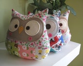 Patchwork owl plush Trixie