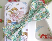 Handmade fabric bow hair clip with Japanese fabric Mini Floral