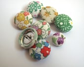 Fabric covered button mixed set sewing supplies