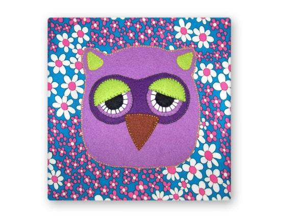 Sleepy Purple Owl Picture