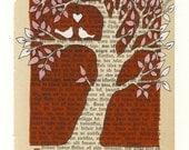 Tree - Red - Print
