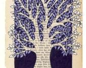 Tree  - Dark purple  - Original illustration.