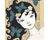 Blue butterflies - Print