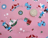 Fairy Tale Peter Pan on Pink Japanese Fabric - Half Yard