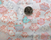 SALE Marie Jacobi, Owls Light Purple Japanese Fabric - Half Yard