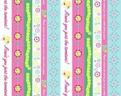 SALE/CLEARANCE Delovely by Cosmo Cricket, Delovely Stripe Multi Fabric - By the Yard