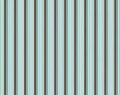 Riley Blake Designs, All Star 2, Blue Stripe Fabric - Remnant Size 32 Inches by 44 Inches