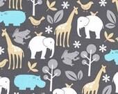 Michael Miller Zoology Animals Sea Fabric- Half Yard