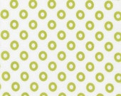 SALE/CLEARANCE Piece O' Cake Designs, Treasures and Tidbits, Circles Lime Fabric - By the Yard