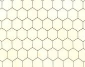 NEW Robert Kaufman, Down on The Farm, Chicken Wire Eggshell Fabric - By the Yard