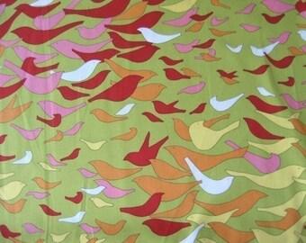 Alexander Henry Aviary Green OOP Fabric - Half Yard