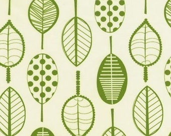 Robert Kaufman GreenSTYLE Panda Prints Leaf Green Cotton/Bamboo (Out of Print) Fabric - Half Yard