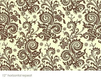 Amy Butler Nigella Wood Fern Ivory Fabric- Half Yard