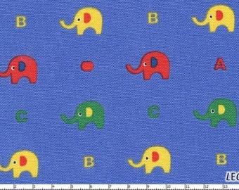 SALE/CLEARANCE Minny Muu Plus Elephant on Blue Japanese Fabric - Half Yard