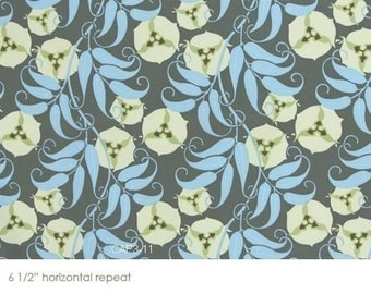 SALE Amy Butler Nigella Passion Vine Grey Fabric- By the Yard