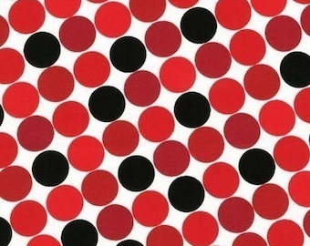 Caleb Gray Groove Dot Licorice Fabric- REMNANT Size 26 Inches by 44 Inches