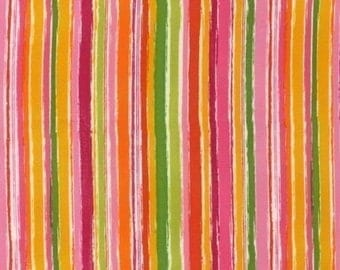 Amy Schimler On A Whim 2 Summer Stripe Fabric - REMNANT Size 34 Inches by 44 Inches