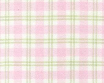 Robert Kaufman Cozy Woven Flannel Pink Fabric - Half Yard