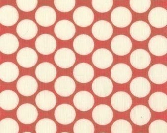 Amy Butler Full Moon Polka Dot Cherry Fabric - Half Yard