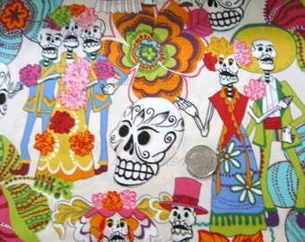 Alexander Henry Los Novios Tea Dye Fabric - Half Yard