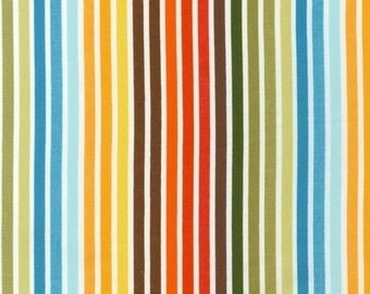 Ann Kelle Remix Bermuda Stripe Fabric - REMNANT Size 26 Inches by 44 Inches