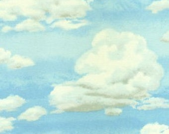 Makower UK Clouds in the Sky Fabric Fabric - Half Yard