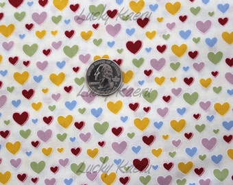 SALE/CLEARANCE Happy Birds in Town, Hearts Cream Fabric - Half Yard