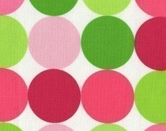 Michael Miller Disco Dot Sorbet Fabric- REMNANT Size 30 Inches by 44 Inches