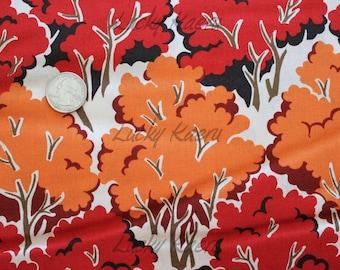 SALE/CLEARANCE Sentimental Studios, Farmyard, Trees, Barn Red Fabric - Half Yard