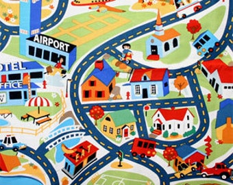 Michael Miller Merryville Tot Town Fabric (Out of Print) - Half Yard