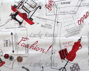 Suzuko Koseki, Sewing, Light Cream Japanese Fabric  - Half Yard