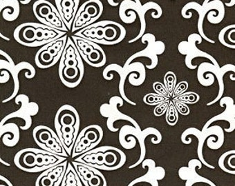 Chocolate Lollipop Brown Swirl OOP Fabric - REMNANT Size 34 Inches by 44 Inches