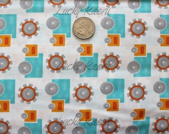 SALE/CLEARANCE Deb Strain, Kate Strain, Arrin Turnmire, Grow With Me, Trucks Creamsicle Fabric - By the Yard