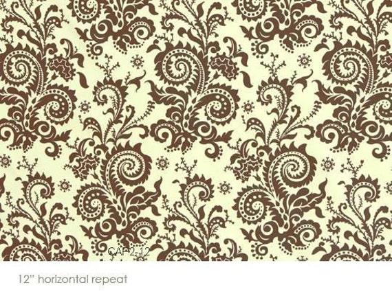 Amy Butler Nigella Wood Fern Ivory Fabric- Half Yard